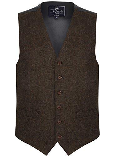 Herren Weste Braun Tweed Design (Größe XXL) Smith Weste