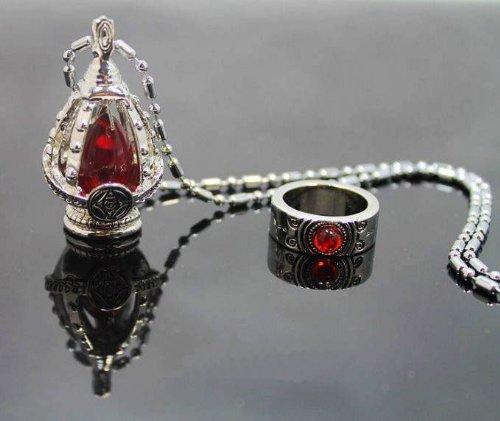 Madoka Magica Puella Magi Seelenedelstein (rot) Collana +allneo