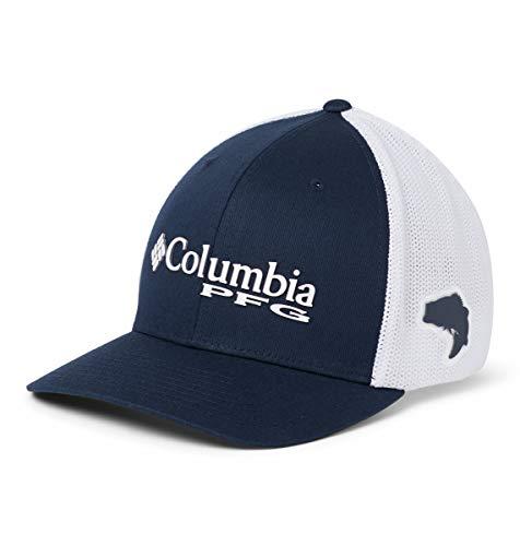 Columbia Herren PFG Mesh Kappe, Größe: S/M, marineblau/weiß (collegiate navy), CU9495 Columbia-mesh-hut