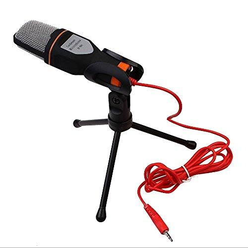 Generic Profesional Estéreo Micrófono con 2.0m Cable + Trípode, Microphone para QQ, MSN, Skype, Mayoría Ordenador y Portátil PC, Cámara de Vídeo, Conferencias, KTV, Escenario, Grabación, Cantar de Karaoke, Chat de Voz - Plata