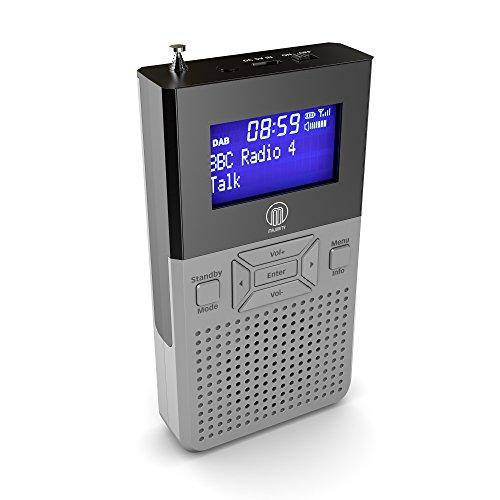 Romsey DAB/DAB + con altavoz/Digital FM Radio/Batería recargable (hasta 12horas de reproducción) Personal portátil bolsillo mano auriculares