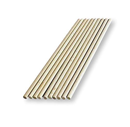 10 x Holzdübel, Craft Sticks, 4 mm dick, 10 x 15 cm, 30 cm cm lang, 10 cm