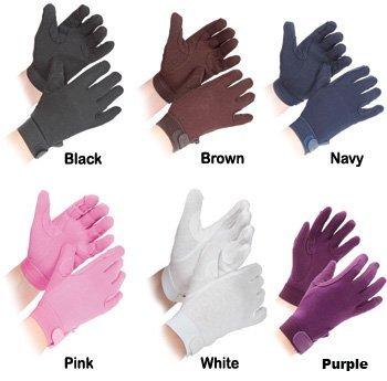 Shires Kinder Handschuhe aus Baumwolle, Granulat, Baby - Jungen Damen Unisex-Erwachsene Herren, Rosa, S - 3-4 años