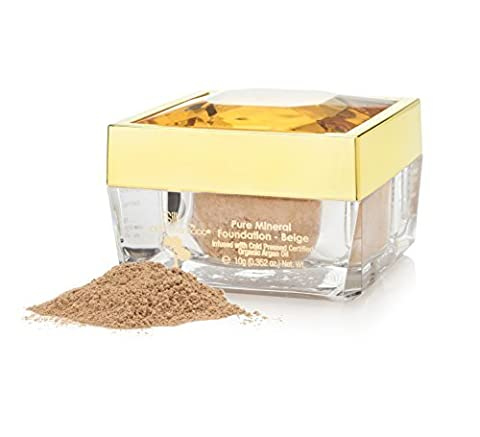 Silk Oil of Morocco Argan Vegan Powder Foundation - Argan Infused Mineral Foundation / Mineral Makeup / Mineral Powder / Loose Powder Foundation.