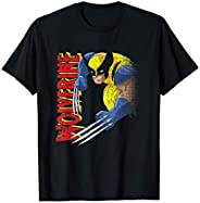 Marvel X-Men Wolverine 90s Animated Series Maglietta