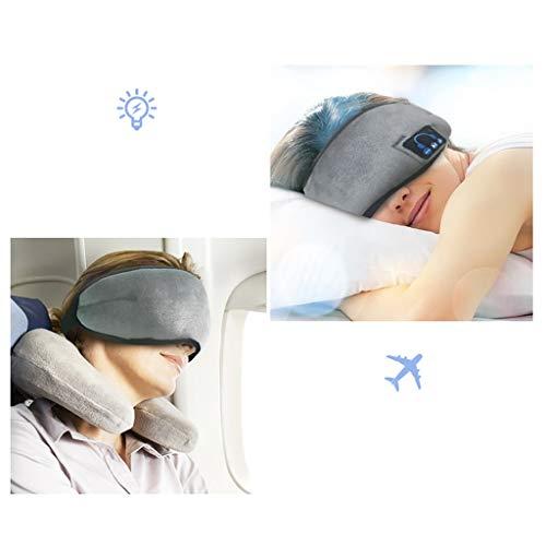 SO-buts Wireless Stereo-Kopfhörer Schlaf Weiche Schlafaugenmaske Musik Headset, Bluetooth Musik Augenmaske Schattierung Augenabstand Müdigkeit Reisen Smart Bluetooth Headset (Grau) - Schattierungen Von Grau