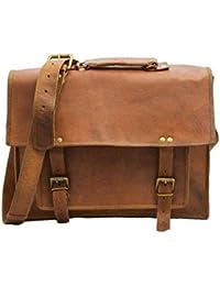 Leather Bag Vintage Handmade Genuine Side Messenger Bag,Laptop Bag, Satchel Bag By Pranjals House