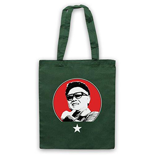 Kim Jong Il North Korean Dictator Umhangetaschen Dunkelgrun