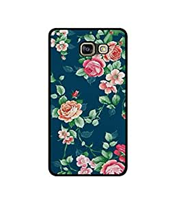 Casotec Vintage Floral Design Canvas Printed Soft TPU Back Case Cover for Samsung Galaxy A7 (2016)