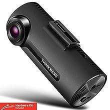 Thinkware F70 Caméra voiture avant Full HD 1080p - Vision nocturne, avec carte SD de 16 Go et câble d'alimentation pour brancher à la batterie de la voiture