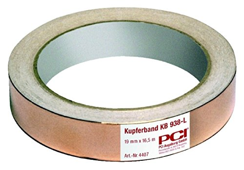 PCI KUPFERBAND 19mm selbstklebend 16.5m ROLLE