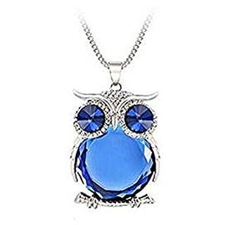 LANSKIRT Schmuck für Damen Mädchen Frauen Eule Anhänger Diamond Pullover Kette Halskette