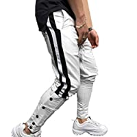 Botón De Los Hombres Pantalones Jogger - Casual Gym Pantalones De Chándal Fitness Pantalones De Chándal Harem Slim Fit M-3Xl