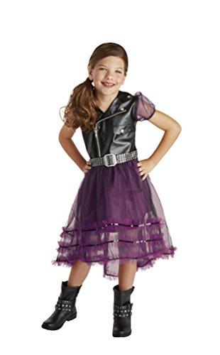 unker Rocker Kostüm Kinder Mädchen-Kostüm Karneval Größe 128 (Rocker-mädchen Halloween-kostüm)