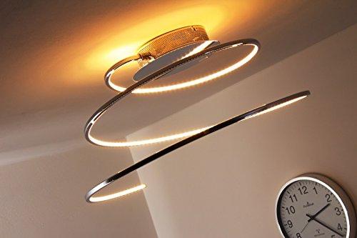 LED 22 Watt Plafoniera Lampadario Design Moderno Spirale Cromo