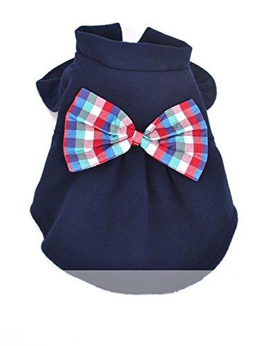 DDI Vêtements pour chiens Vêtements Cat Vêtements pour animaux automne et les vêtements d'hiver (2 couleurs sont disponibles) charmant ( couleur : Bleu , taille : L )