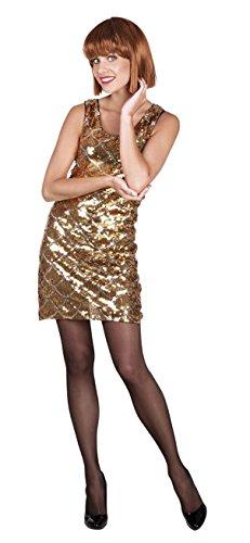 Boland 87153 Erwachsenenkleid Dazzle, Gold, M