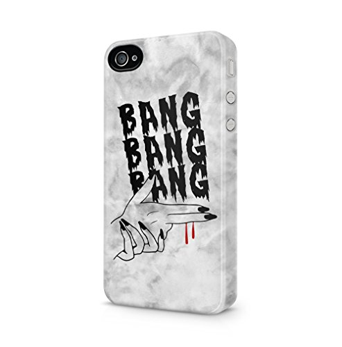 Boho 4 Fall Iphone (Bang Bang Bang Hand Gun Grunge Apple iPhone 4 / iPhone 4S SnapOn Hard Plastic Phone Protective Fall Handyhülle Case Cover)