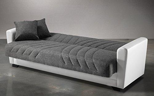 Divano letto reclinabile con contenitore e due cuscini una piazza e mezza in - Divano viola mondo convenienza recensioni ...