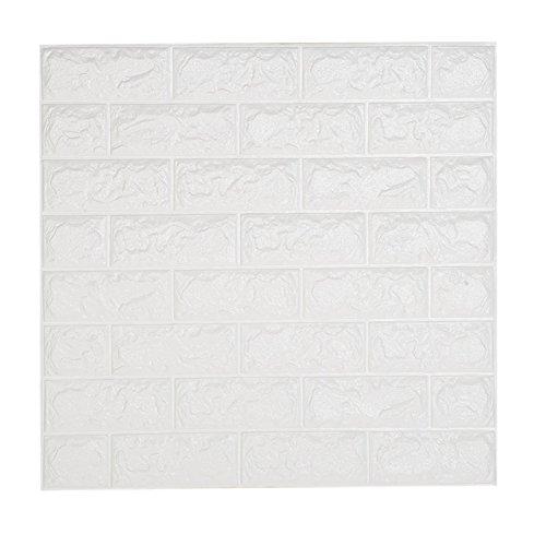 3D Wandpaneele Selbstklebend,NHSUNRAY 3D Ziegelstein Tapete Brick Muster Tapete Brick Pattern Wallpaper für Schlafzimmer Wohnzimmer Moderne Tv Wände oder Küche Dekor (60 x 60 cm 20 Stück) -