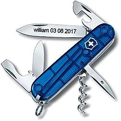 Couteau Suisse Personnalisé Gravé - Victorinox Spartan Bleu 91 mm