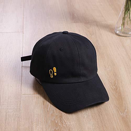 mlpnko Hat female wild student exclamation mark embroidery baseball cap travel cap male black adjustable