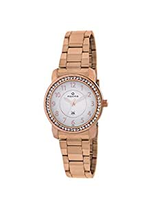 Maxima Analog White Dial Women's Watch-42992CMLR