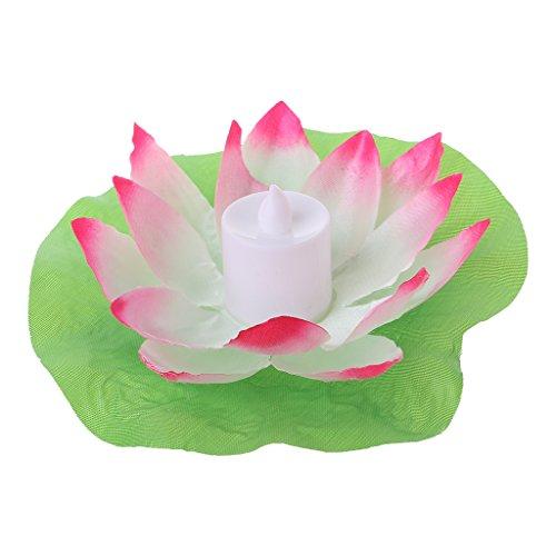 ruiruiNIE LED schwimmende Lotus-Blumen-Lampen auf Wasser-Swimmingpool-Garten-Dekorations-Licht - Rosa