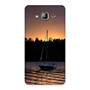 Neo World Sunset Lake Boat Back Case Cover for Galaxy On5