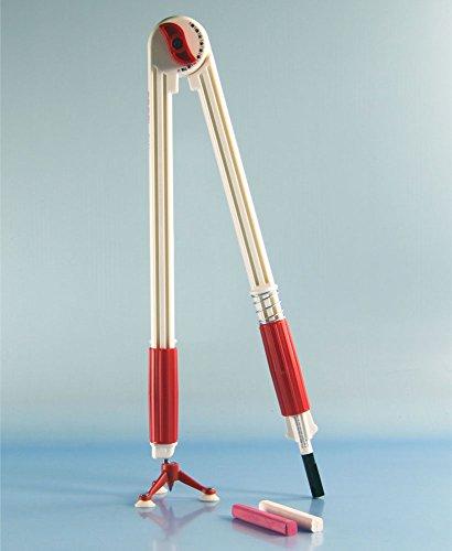 FTM® Tafelzirkel mit 3er Saug-Fuß, großer Zirkel für Tafel und Whiteboard mit Stifthalter, als Schulbedarf und Lehrmittel