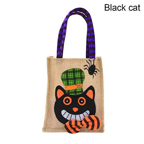 (PerGrate Halloween Süßigkeiten Geschenk Taschen Kürbis Hexe Ghost Süßes oder Saures Tasche Kinder)