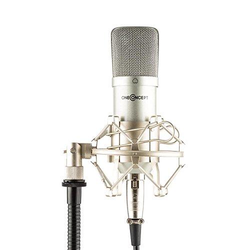 OneConcept MIC-700 Micrófono de condensador Ø34mm universal (soporte