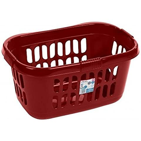 Wham High Grade Plastic Hipster Style Washing Linen Laundry Basket (Chilli Red) by Hot Pink Hipster Laundry Basket