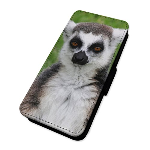 Cute Lemur Animal Monkey – Flip cover in pelle copertura di carta Apple Iphone X