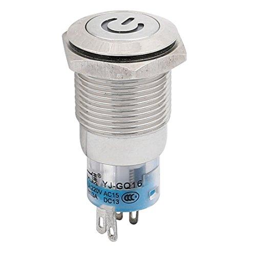 3A LED Licht SPDT NO NC verriegelnder Panel Druckknopf Schalter DE de ()