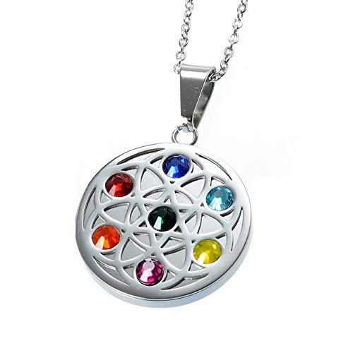 Chakra Magnet Kettenanhänger mit 7 Swarovski Kristallen Energetix 4you 717 Meditation Design...
