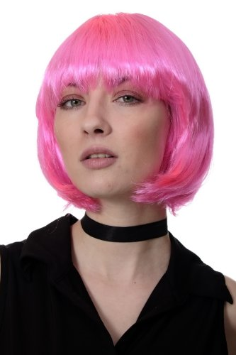 WIG ME UP PW0114-PC5 - Peluca corte BOB, pink, Disco, GO GO girl