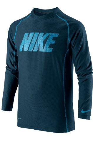 Nike speed fly gFX t-shirt à manches longues pour garçon Bleu Bleu foncé