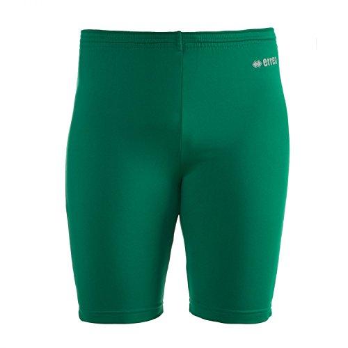 ORFEO AD Funktionshose (knielang) von Erreà · ERWACHSENE Damen Herren Sport Unterziehhose (kurz) aus Polyester · BASIC Slim-Fit Hose (elastisch) für Teamsport · BASELAYER Kompressionshose (endotherm) geringe Kompression · (Farbe grün, Größe S/M)