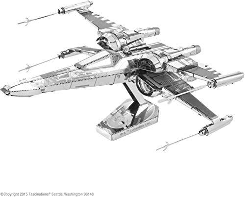 Fascinations Metal Earth MMS269 - 502665, Star Wars Poe Dameron's X-Wing Fighter, Konstruktionsspielzeug, 2 Metallplatinen, ab 14 Jahren