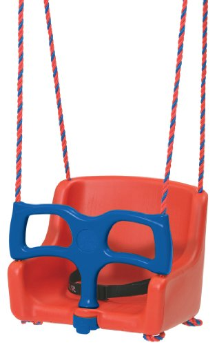 Kettler Sicherheitssitz für die Schaukel – stabiler Kleinkinder Sicherheitssitz – mit Griffbügel und Beckengurt – Schaukelsitz für Ihr Kind – rot & blau