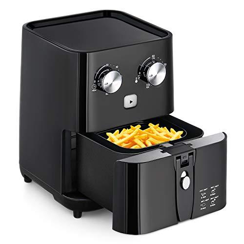 Amzdeal Friteuse sans Huile - avec Minuteur Digital et Thermostat Ajustable, Friteuse Électrique...
