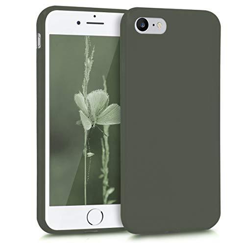 kwmobile Apple iPhone 7/8 Hülle - Handyhülle für Apple iPhone 7/8 - Handy Case in Olivgrün matt -