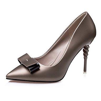 Moda Donna Sandali Sexy donna tacchi tacchi estate pu Casual Stiletto Heel Bowknot nero / rosa / argento / grigio altri Pink
