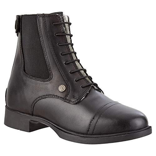 Stiefelette »KIDS BZ LACE WINTER« mit Schnürung und Reißverschluss hinten. Bequeme Boots aus Echtleder und Teddyfell   Kinder-Reitschuh, tolle Passform  Stiefel Größen 29-36   Farbe: Schwarz