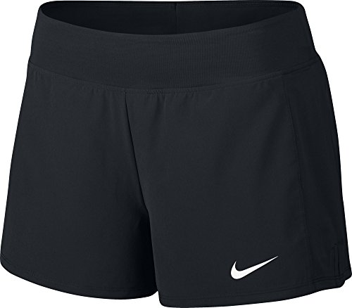 Nike W nkct FLX Pure Tennis Shorts, Damen S Schwarz / Weiß (Nike Tennis-shorts)