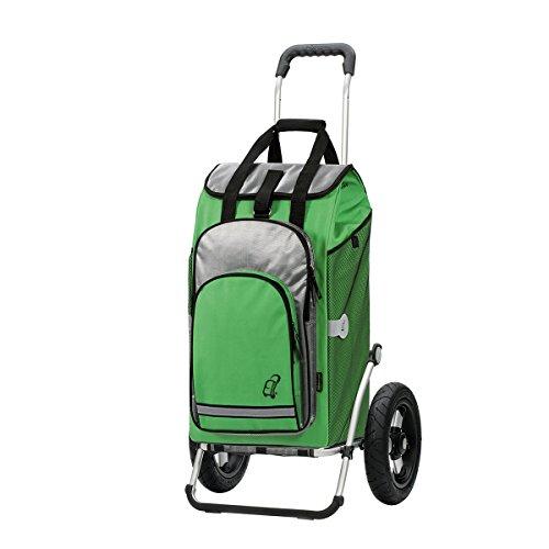 Andersen Shopper Royal mit kugelgelagertem Luftrad 29 cm und 60 Liter Einkaufstasche Hydro grün mit Kühlfach