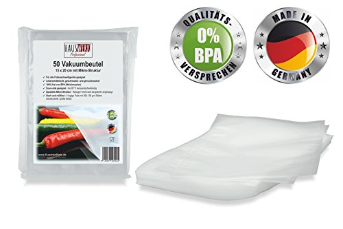 Home Professional Vacuum Bag with structure 15 x 20 cm / 50 Beutel