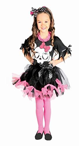 Guirca Kostüm Skelett Rosa Mädchen 5/6 Jahre, Farbe 5745