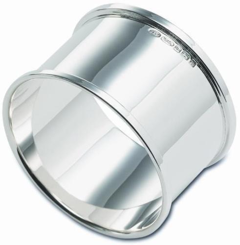 Neue Sterling Silber Servietten oder Servietten RING in Geschenkbox, gerade